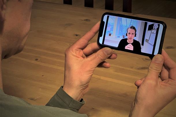 Bilde av videosamtale